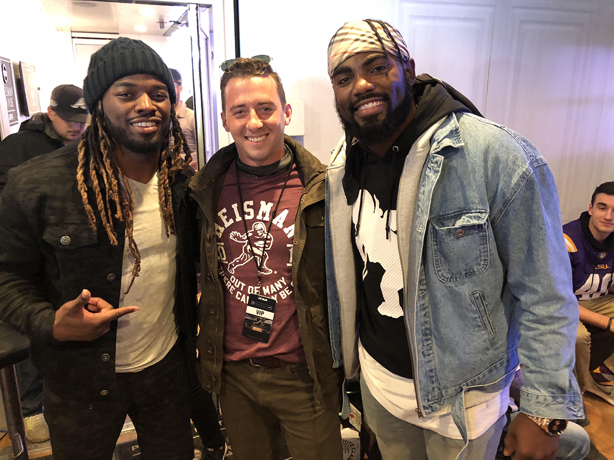 Zachary with former Alabama greats Trent Richardson and Landon Collins at the Nissan Heisman House. Collins just signed a whopping $84 million contract with the Washington Redskins.