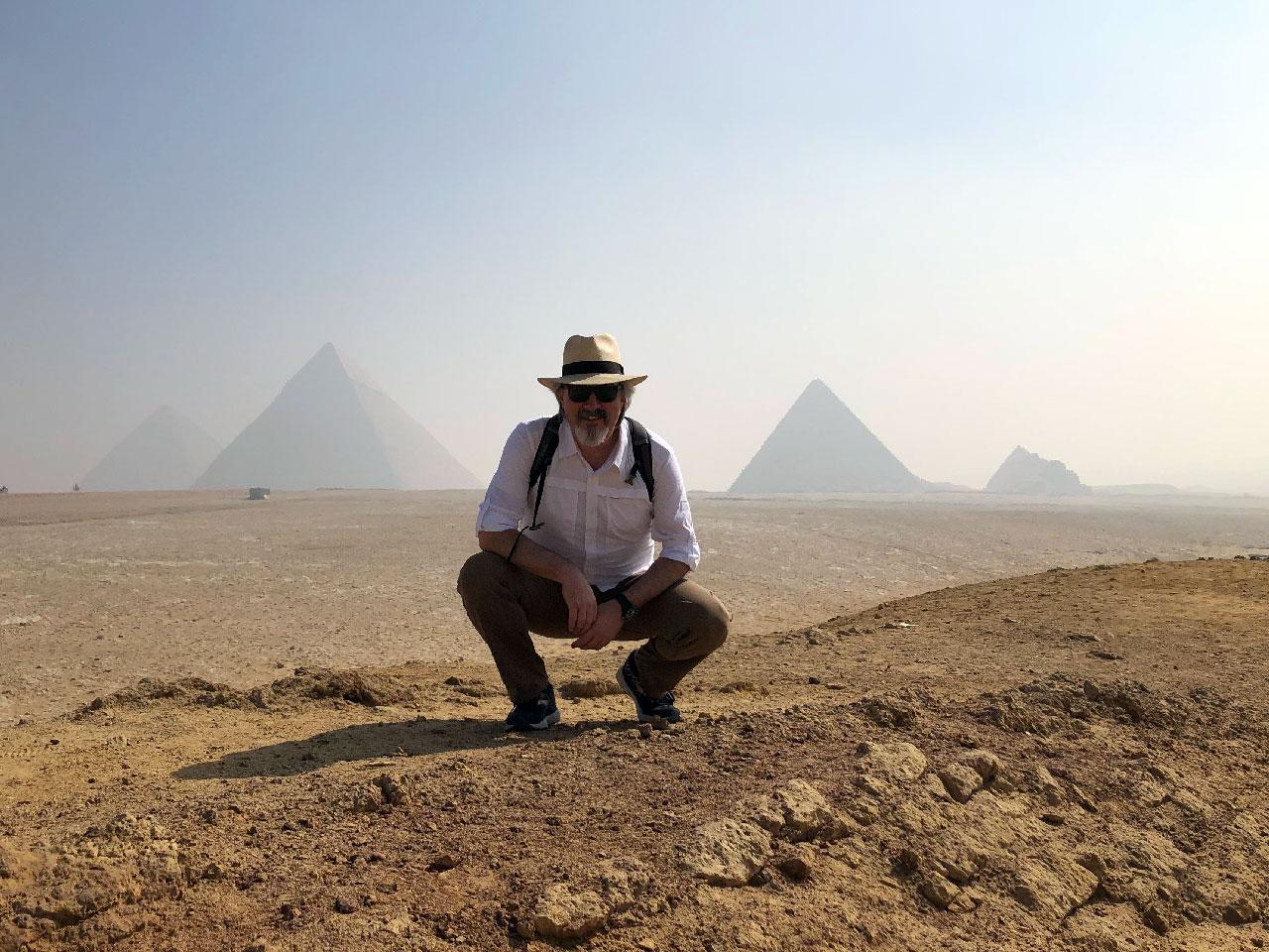 Larry Taunton in Egypt - Pyramids