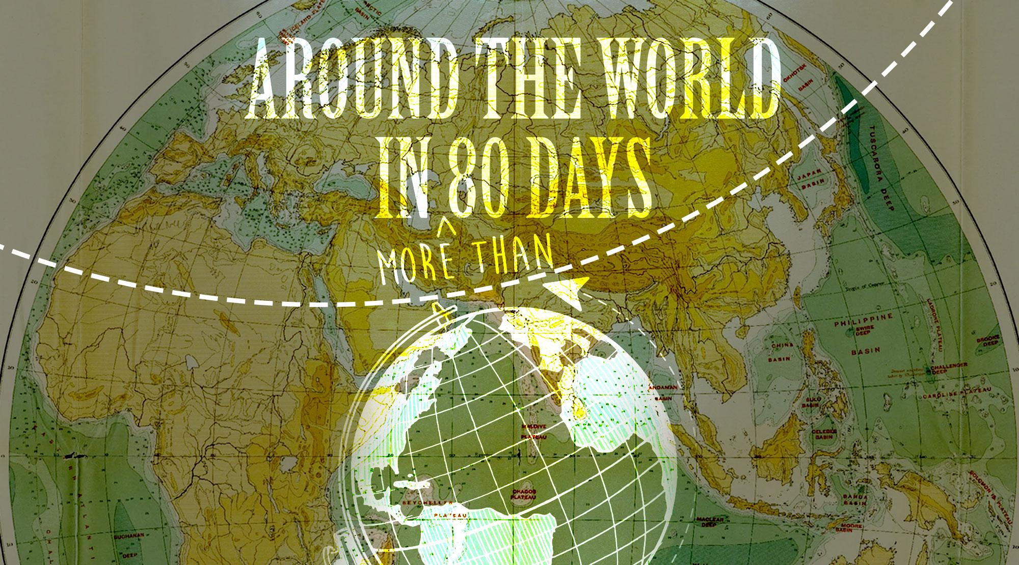 around the world in 80 days book wallpaper