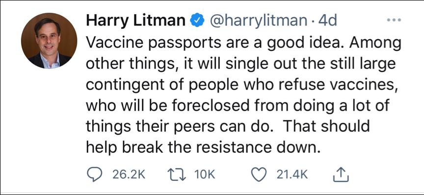 Vaccine Tweet